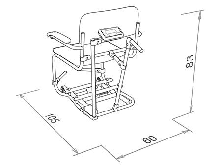 Waga krzesełkowa WE200P3 K wymiary